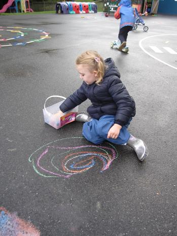 Mark making outside