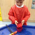 The children enjoyed squelching the slime!