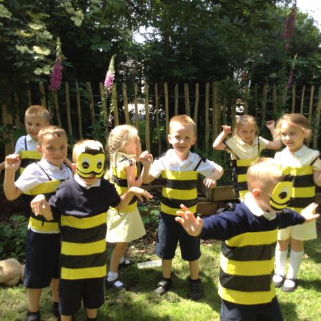 Being busy bees!