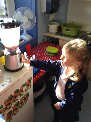 We designed and made our own healthy smoothies.