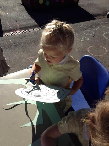 Creating Snakes - Working on our scissor skills!