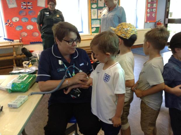 Finding out about people who help us.