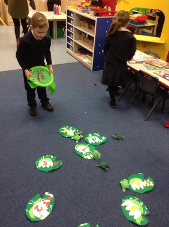 Flying Frogs Number Game