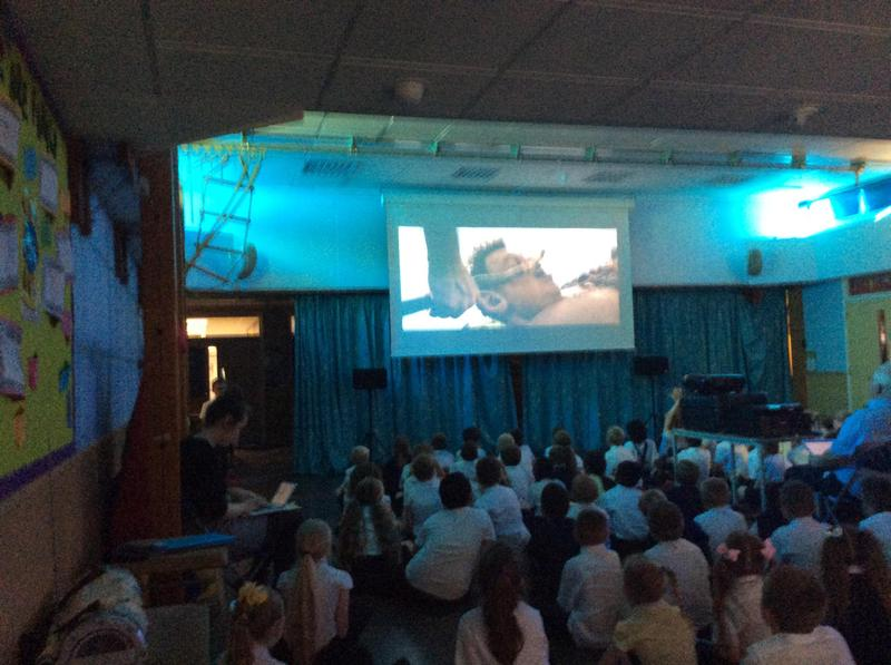 A fab end to a great week - Watching The BFG in the hall with popcorn and blankets