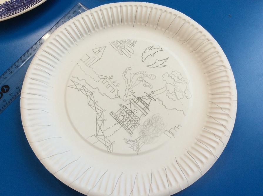 Some children recreated the Willow pattern
