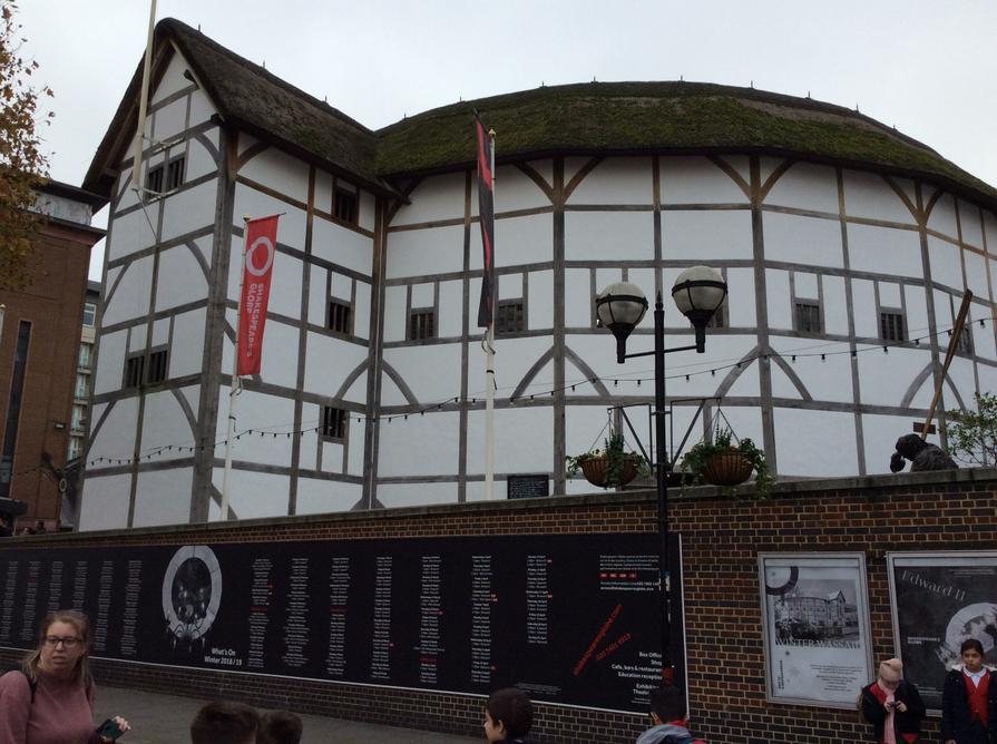 We visited Shakespeare's Globe in London