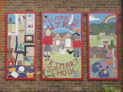 The children created this mural