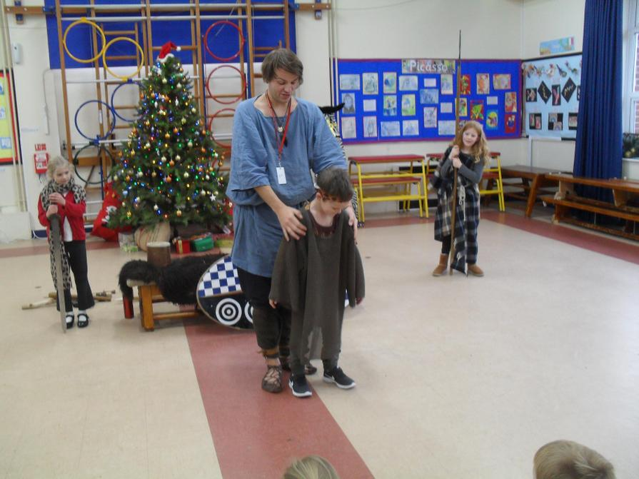 The chain mail was very heavy!