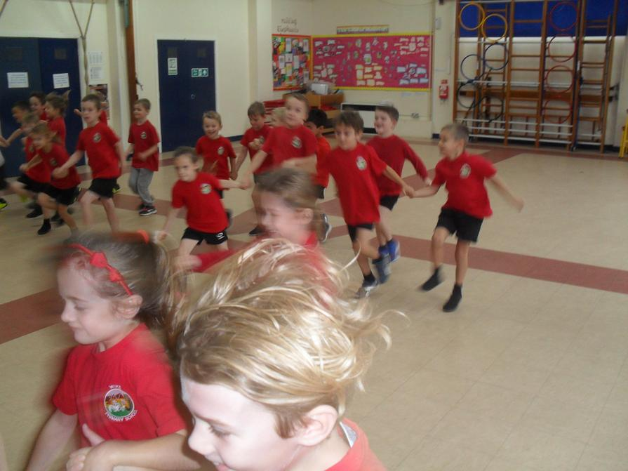 In PE we pretended to be Roman chariot racers!