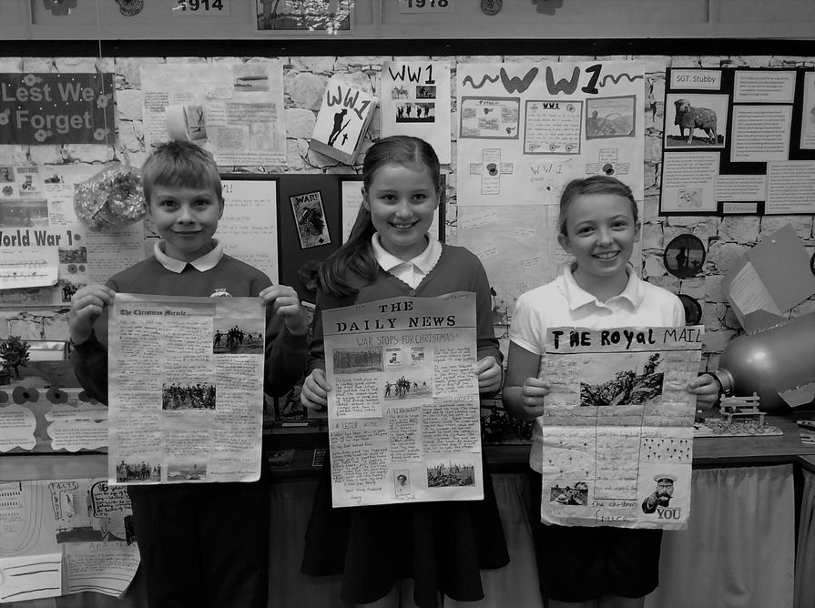 We designed the front page of WW1 newspapers