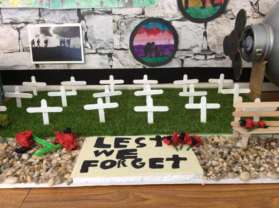 A poignant memorial to the fallen