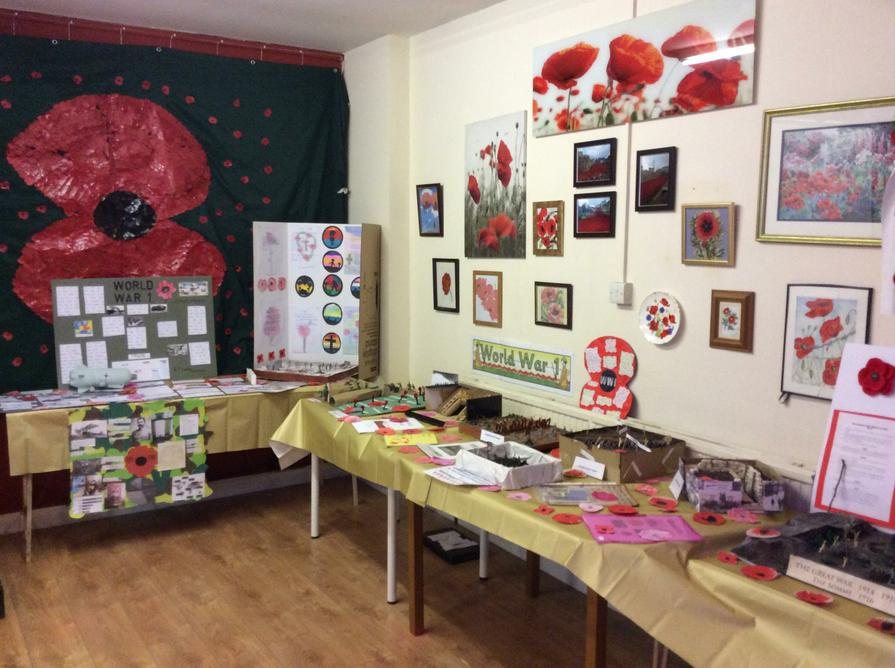 These are our WW1 projects on display