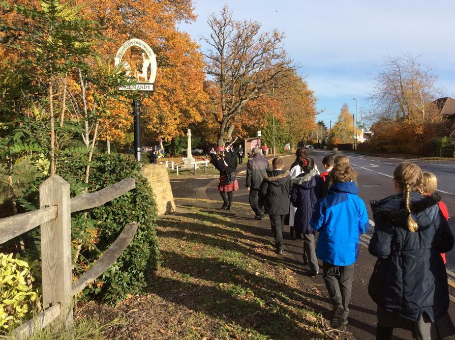 Our destination, the Normandy War Memorial