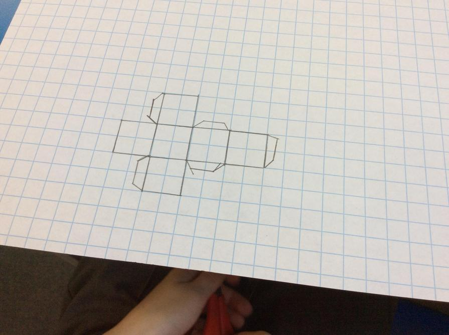 Next came 2D nets for 3D shapes