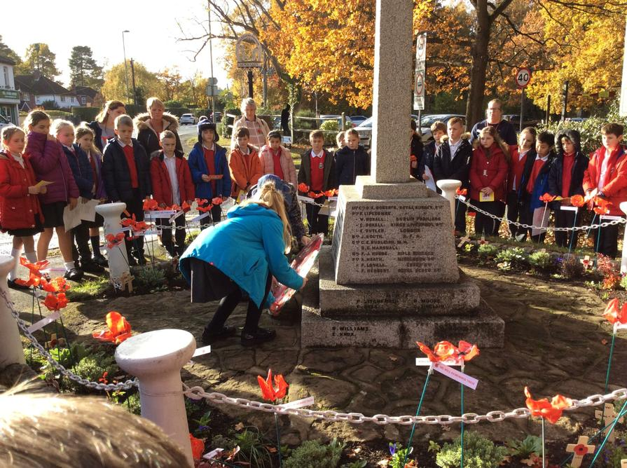Our school wreath was laid in remembrance