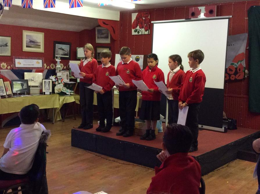 Our poems of remembrance were read
