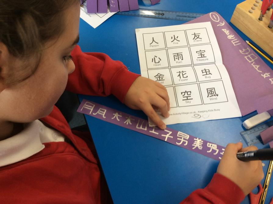 Chinese writing required a lot of patience