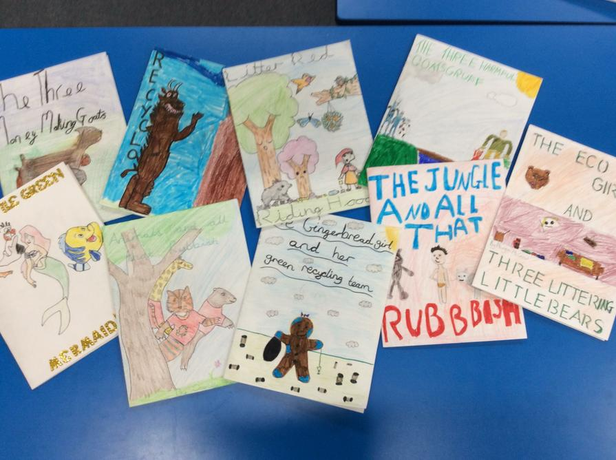 Here are the books we made for Reception