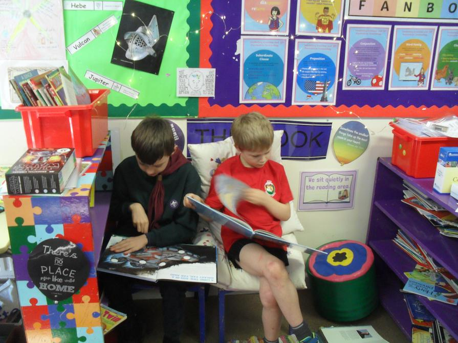 We love our 'book nook'