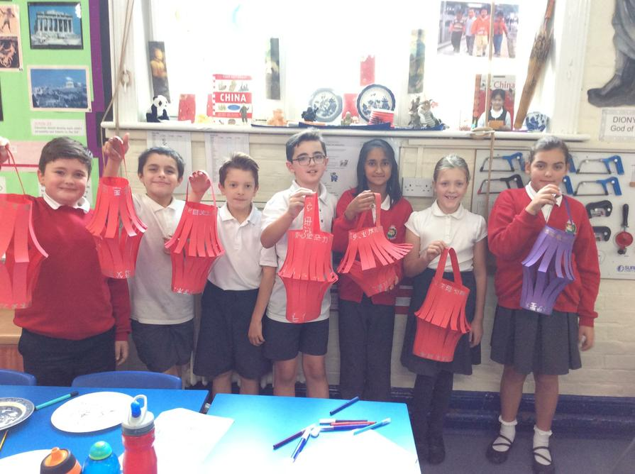 Our lanterns look amazing hanging in the classroom