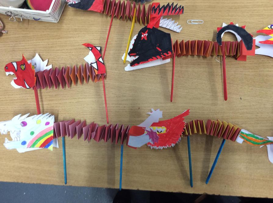 We ended the week with Chinese dragons