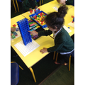 Numicon tower - counting in tens!