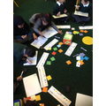 Roll the dice and create a number sentence.