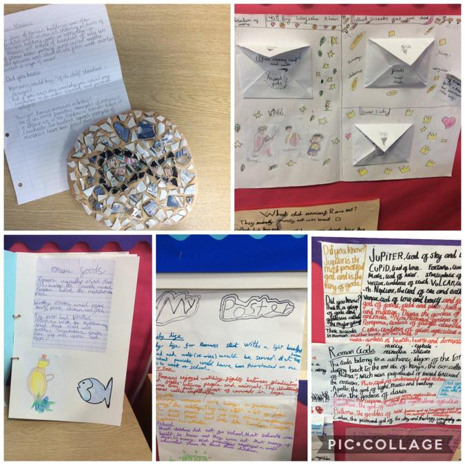 Year 4's Roman projects