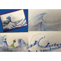 We have been studying the Great Wave Off Kanagawa by the artist Hokusai.