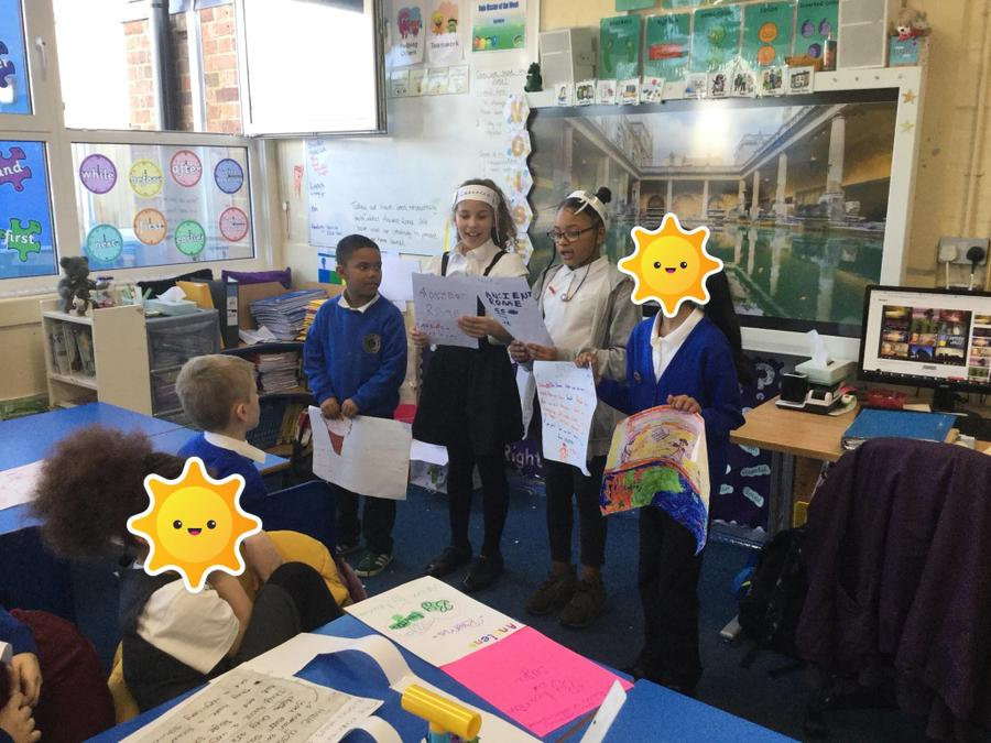 Year 4's Roman enquiry presentations.