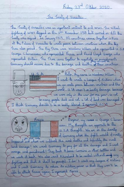 Eva's Treaty of Versailles work