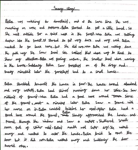 Sophia's scary story