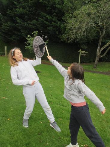 Viking weapons training!