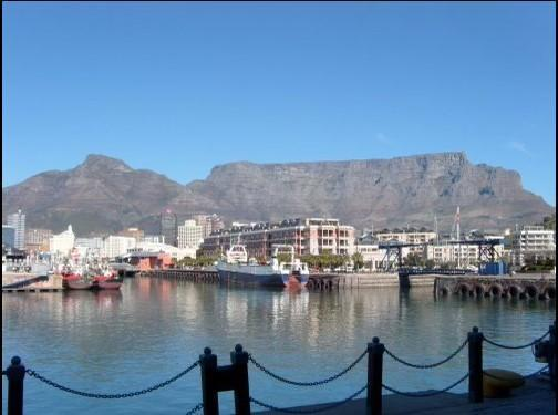 Ollie's Auntie climbed up Table Mountain in South Africa which is 1086m high.