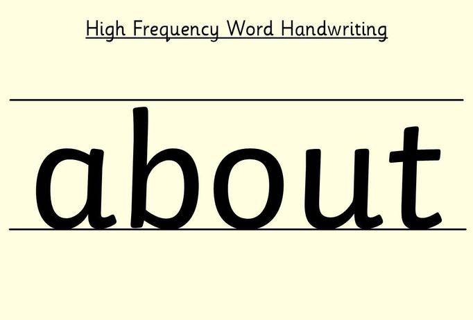See Tapestry for a video modelling how to write this word..