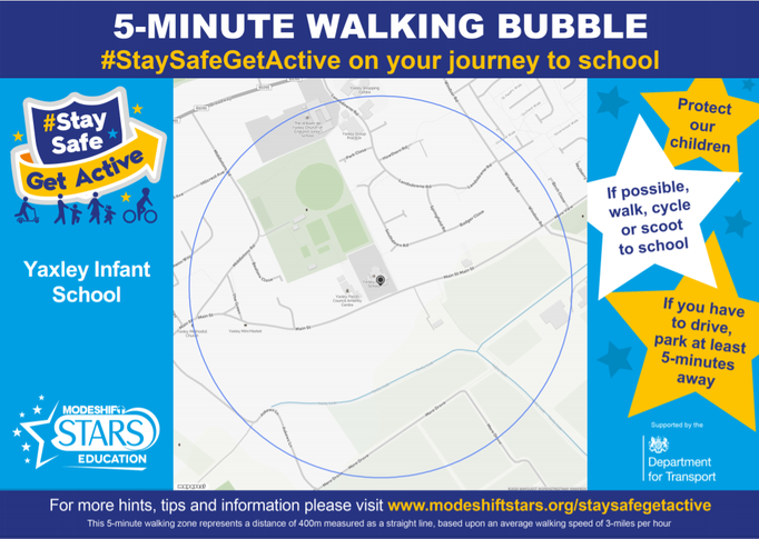 Here is a map of the 5 minute walking bubble