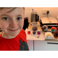 Science experiment with Robert using red cabbage!