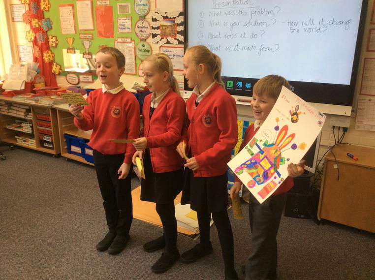We won best invention in a school vote.
