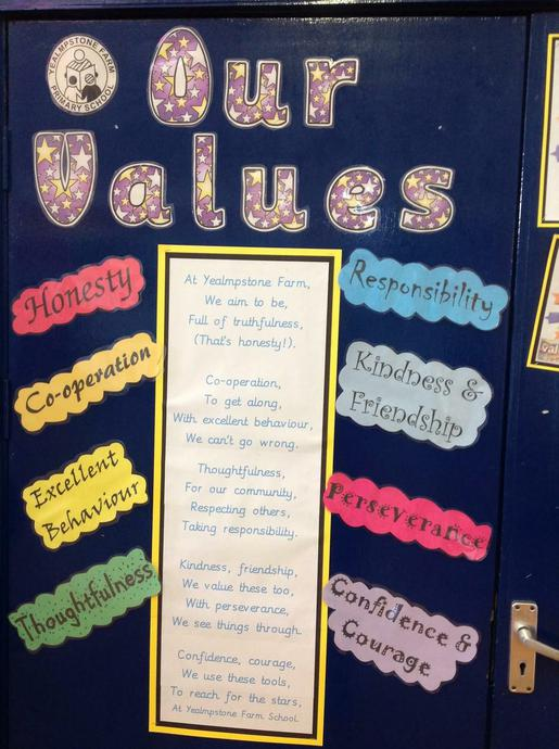 We focus on these values every day in school.