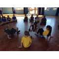 We worked out a routine in Gymnastics!