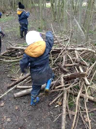 We learnt how to make a fire.