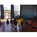 Year 3 began the year practising point balances!