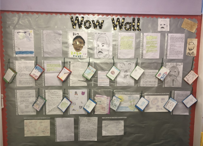 6H - Our WOW Wall! Showcasing our work at home!