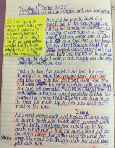 6S - The opening to Maddison's story (The Wisp).