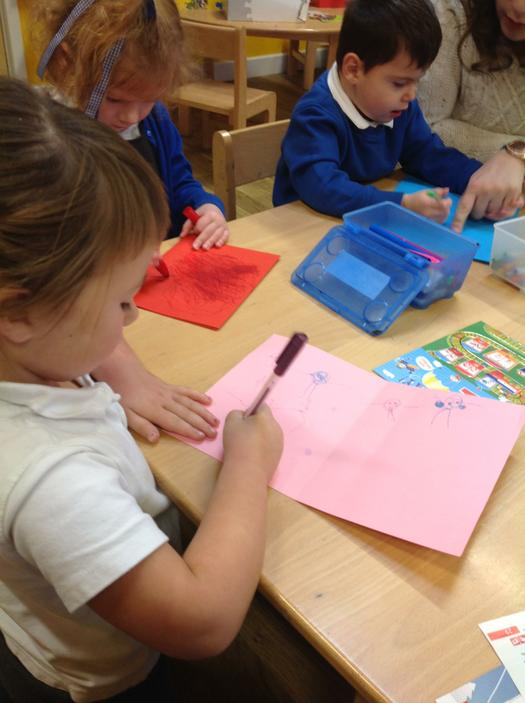 Writing cards for Peppa