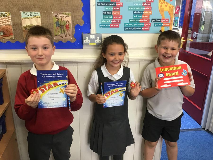 Well done to our Stars of the Week.