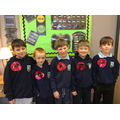 KS2 made their own poppies for the assembly