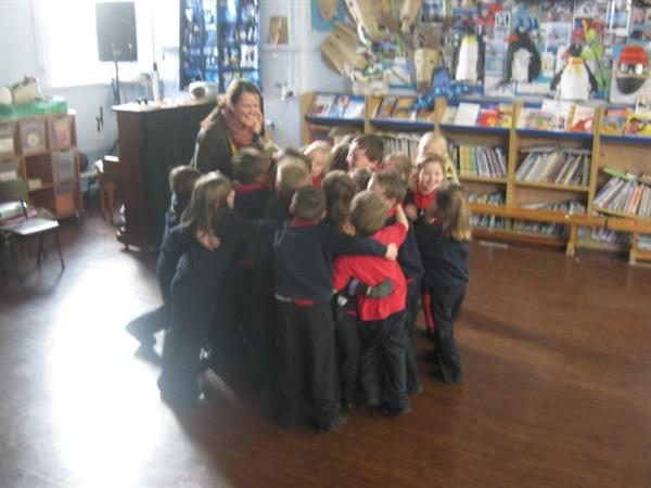 Playing our SEAL game 'Hugs' with Mrs Pawson-Will