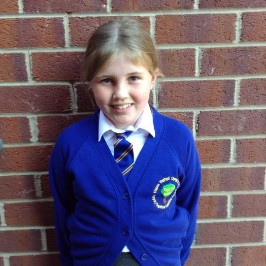 My name is Lily, I am in Year 4. I enjoy playing football.