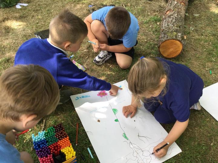 Working together to create an observational drawing